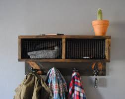 Wall Coat Rack With Baskets Coat rack baskets Etsy 23