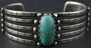 navajo turquoise and silver bracelet c