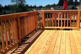 wood deck cost. Cost Of Composite Deck Cedar Wood And Railing By Cascade Fence