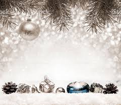 silver christmas background.  Background Silver Christmas Background And White Snow Royaltyfree Stock Photo To M