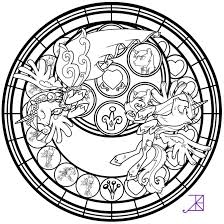 Small Picture Coloring Pages Best Images Of Kingdom Hearts Stained Glass