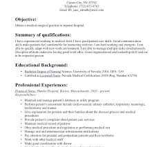 Graduate Nurse Resume Samples Objective Examples New Nursing Example ...