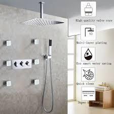 Debonair Grohe Shower Heads Ceiling Shower Head Black