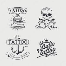 лого тату тату студия логотип шаблоны векторное изображение