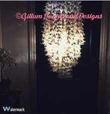 chandelier handmade paper flower with led lights id ged
