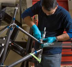 custom bicycle builders stock photo getty images