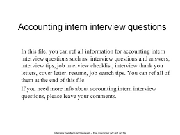 Internship Interview Thank You Letter Original Picture Accounting
