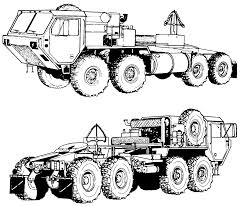 semi truck outline drawing fun military vehicle coloring pages
