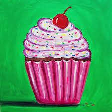 bright cupcake by tracey bautista bright cupcake painting  on cupcake canvas print wall art with bright cupcake canvas print canvas art by tracey bautista
