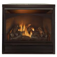 gas fireplace insert dual fuel technology with remote control 32 000 btu