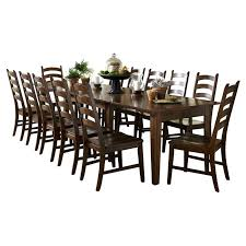 piece solid wood dining set 13 montreal outdoor setting 78514 world menagerie