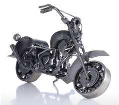 handmade nuts and bolts motorcycle sculpture shannyshop