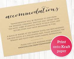 wedding accommodations template wedding accommodations card insert wedding templates and printables