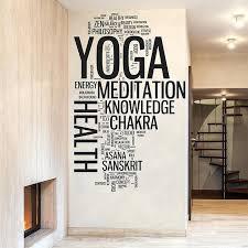 word plaques wall art enjoyable inspiration word wall art designing home yoga cloud vinyl decal canvas