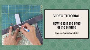 Video tutorial: How to join the binding ends of your quilt - YouTube &  Adamdwight.com