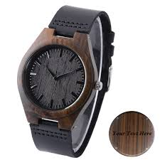 engraved wood watch ebony wooden watch for men custom watches groomsmen gift fathers day gift free engraving
