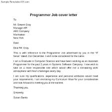 Sample Cover Letter Programmer Cover Letter Computer Programmer