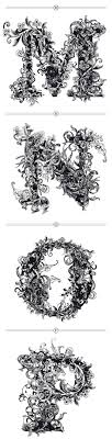 M N O P Enluminure Letters Pinterest Calligraphie