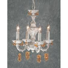 gabrielle 4 light mini chandelier finish antique white crystal type swarovski elements