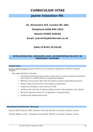 Nursing Resume Free Nurse Examples Template Australia Sample 01
