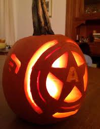 Captain America Pumpkin Designs My Captain America Pumpkin Carving Halloween Pumpkins