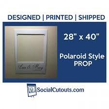 large printed shipped polaroid style wedding cutout frame