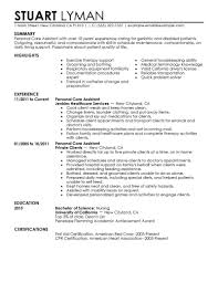 Personal Care Aide Resume Sample Best Personal Care Assistant Resume Example LiveCareer 1