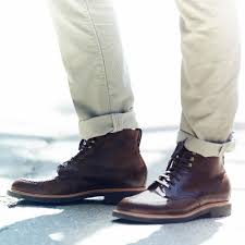 lyst j crew kenton leather pacer boots in brown for men kenton leather cap toe