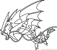 Small Picture Mega Gyarados Pokemon Coloring Page Free Pokmon Coloring Pages