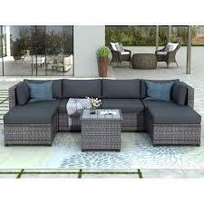 piece outdoor wicker furniture set