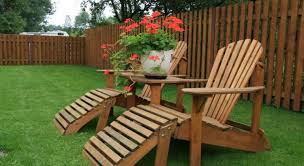 furniture made from wood. Wood Furniture On Lawn Made From