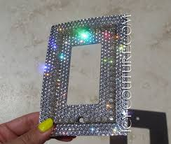 light switch covers. Single Rocker Style Bling Light Switch Plate Cover With 3D Crystal Chain. Whats Your Color? Covers