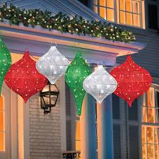 outdoor lighting decorations. Lighted Hanging Ornament Outdoor Christmas Decorations Lighting L
