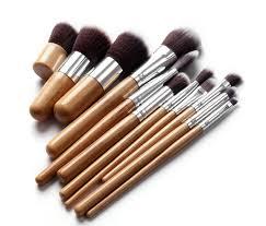 stock clearance pro makeup brush set 11pcs beauty brushes kit foundation hand to make
