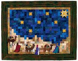 Sew your own Christmas Nativity & The Three Wise men quilt is one of the scenes from the book Applique  Nativity Projects by Rachel W. N. Brown, available in hard copy and ebook  form. Adamdwight.com