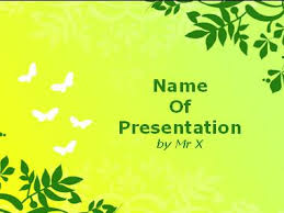 Green Flowers Frame Powerpoint Template