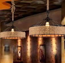 Image Pendant Lamp Nordic Loft Iron Art Hemp Rope Droplight Retro Pendant Light Fixtures For Dining Room Hanging Lamp Industrial Vintage Lighting Amazoncom Nordic Loft Iron Art Hemp Rope Droplight Retro Pendant Light