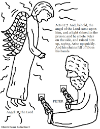 Free Coloring Pages Of Peter In Jail With The Angel Of The Lord