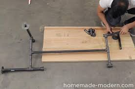 homemade modern diy ep68 pipe coffee table step 14