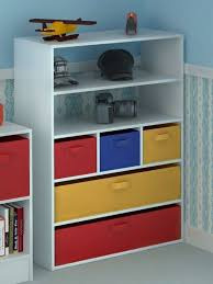 Home Source Kids Toy Storage Cabinet 5 Tiers 5 Canvas Drawers for