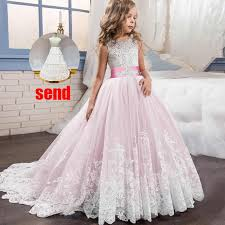 <b>2019</b> Girl flower long dress for wedding <b>vestidos de primera</b> ...