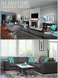 gray and turquoise living room. gray and turquoise living room