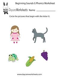 All worksheets only my followed users only my favourite worksheets only my own worksheets. Free Beginning Sounds Letter G Phonics Worksheet For Preschool Preschool Phonics Worksheets Preschool Phonics Phonics Worksheets