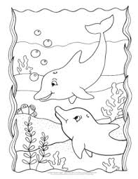 Here is a small collection of free dolphin coloring pages to print out for your kids, highlighting different species of dolphin. Dolphin Coloring Pages Easy Peasy And Fun