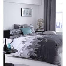 catherine lansfield city scape bedding set multi