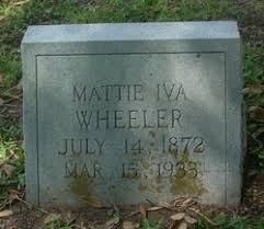 Mattie Iva Blair Wheeler (1872-1933) - Find A Grave Memorial