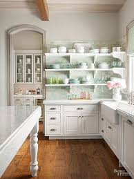 Kitchen Cabinet Backsplash Best Handmade Clay Tile Mint Kitchen Backsplash The Leslie Style