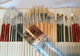 art owl studio 36 paint brushes for painting acrylic oil watercolor with art supplies carry pouch