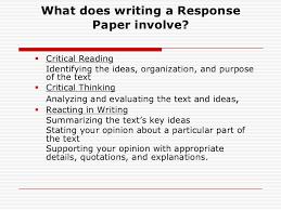 critical response essay format com  critical response essay format 18 response paper br 2