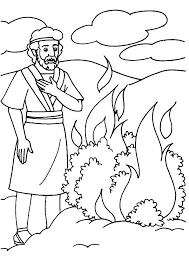 Small Picture Moses and the burning bush coloring pages ColoringStar